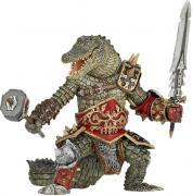 Фигурка Оборотень-крокодил с молотом и мечом 15 см из серии Фэнтези — игрушка Papo 38955