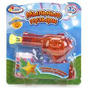 Пистолет д/пускания мыльных пузырей, со светом, 50мл на блистере Играем вместе