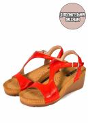 Женские сандалии-сабо LEON 1050 (красный) 41