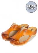Женские тапочки-сабо Leon 912 (бежевый/коричневый) 40