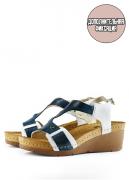 Женские сандалии-сабо LEON 1010 (темно-синие) 36