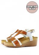 Женские сандалии-сабо LEON 1010 (коричневые) 35