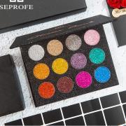 SEPROFE Glitter BOMB - Палитра глиттерных теней из 12 цветов.