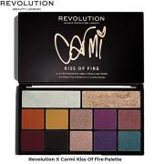 Тени для век Палетка Makeup Revolution X Carmi Kiss Of Fire
