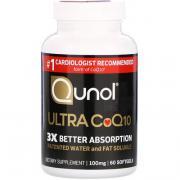 Мега CoQ10 Убихинол, 100 мг, 60 капсул