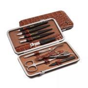 Маникюрный набор 9 предметов Zinger MS-FC101-S коричневый