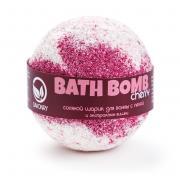 SAVONRY Бурлящий шарик для ванн с пеной Вишня