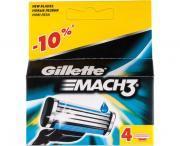 Сменные кассеты Gillette MACH3, 4 шт.