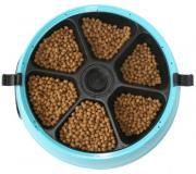 Автокормушка голубая на 6 кормлений для сухого корма и консервов