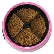 Автокормушка на 4 кормления для 1-1,2 кг корма, розовая, PF2P