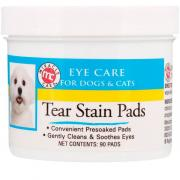 Miracle Care Eye Care Tear Stain Pads For Dogs & Cats 90 Pads Mce-24567
