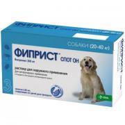 Капли для собак KRKA Фиприст Спот Он от блох и клещей, весом 20-40кг 268мг, 3 пипетки
