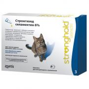 Капли для кошек Zoetis Stronghold 2,6-7,5кг 45мг, 3 пипетки