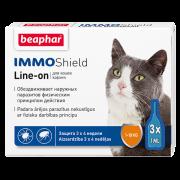 Капли Beaphar IMMO Shield для кошек 1-10кг 3 пип. по 1мл