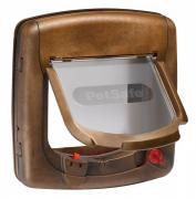 Дверца для кошек и собак Staywell Magnetic Deluxe с магнитным ключом, коричневая