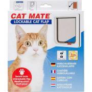 ROSEWOOD Дверь для кошек CAT MATE на тонкие перегородки до 13мм, белая, 192х200мм