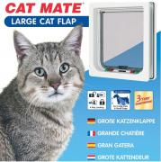 ROSEWOOD Дверь для кошек CAT MATE на перегородки до 50мм, белая, 235х252мм