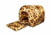 Домик-арка мягкий Дарэлл-САФАРИ 39*34*35см с подуш. (флок Леопард+нейлон, поролон+периотек), 0.000