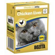 Корм для кошек BOZITA Кусочки в желе с куриной печенью конс. 370г