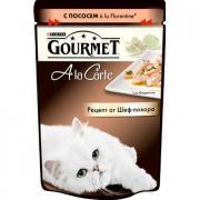 Корм для кошек Gourmet AlaCarte лосось, овощи в подливе конс.85г