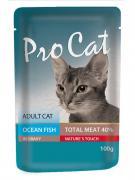 Корм для кошек Pro Cat океаническая рыба конс. пауч 100г