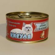 """Кисуля консервы для кошек Паштет """"Кролик с ягненком."""