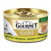 Корм для кошек Gourmet Gold кусочки в паштете с кроликом по-французски (85гр) (24шт)