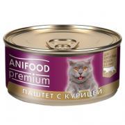"""Корм консервированный для кошек """"ANIFOOD premium"""" паштет с курицей"""