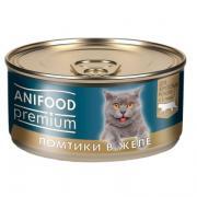 """Корм консервированный для кошек """"ANIFOOD premium"""" ломтики в желе с курицей"""