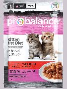 """Консервированный корм для котят Probalance """"Kitten 1`st Diet"""", 85г (25шт. в уп.)"""