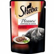 Влажный корм для кошек Sheba, цельные кусочки, ягнёнок, 80 г