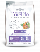 Сухой корм для кошек Flatazor Pure Life Sterilized 8+ With Duck and White Fish (400г)