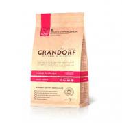 Grandorf Сухой низкозерновой корм для домашних кошек с ягненком и рисом Lamb Rice Adult Indoor 2кг