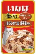 Japan Premium Pet Тихоокеанский палтус с японским тунцом-бонито, 60 гр, Japan Premium Pet