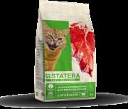 Сбалансированный корм STATERA для взрослых кошек с ягненком, 12 кг