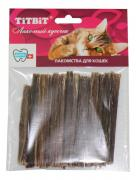 Лакомство для кошек TITBIT высушенные бараньи кишки, 11см, 34г