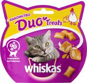 Лакомство для кошек Whiskas Duo Treats подушечки c курицей и сыром, 40г