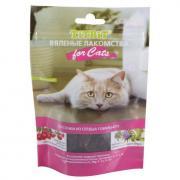 Лакомство для кошек TITBIT Вяленые Кусочки из говяжьего сердца 50г