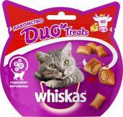Лакомство для кошек Whiskas Duo Treats подушечки c говядиной и сыром, 40г