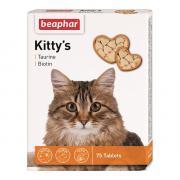 "Витамины для кошек Beaphar Kitty's+Taurine+Biotin"" таурин+биотин 75шт"