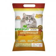 Наполнитель для кошачьего туалета HOMECAT Эколайн Кукурузный комкующийся 6л