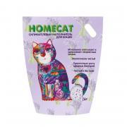 Наполнитель для кошачьего туалета HOMECAT силикагелевый с ароматом лаванды 7,6л