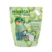Наполнитель для кошачьего туалета HOMECAT силикагелевый с ароматом яблока 7,6л