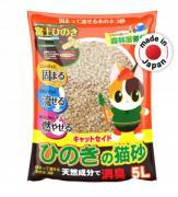 Древесный наполнитель для кошачьего туалета из японского кипариса Catseido, Hinoki 5л