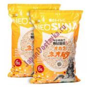 Комкующийся туалетный наполнитель Neo Loo Life, KOCHO, впитывает 6 литров, на основе соевых бобов Neo Suna набор 2 шт.( цена 890 за 1шт)
