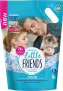 Наполнитель для кошачьего туалета Little Friends Силикагелевый Ocean 5л