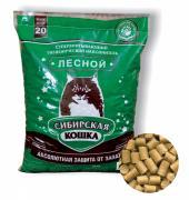 Сибирская кошка Лесной Древесный наполнитель 20 кг