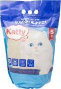 Наполнитель для кошачьего туалета Katty комкующийся 5кг (упаковка 3 шт.)