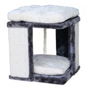 Когтеточка для кошек Foxie House 40х40х42см серо-белая