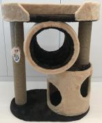 Товары для кошек Балуй Балуй-12 джут мини-комплекс для кошек с тоннелем